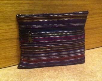 Multicolor wax card holder wallet