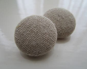 Natural Beige Linen 19mm Shank Button