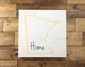 Pick Colors, Minnesota Wood Sign, Minnesota State Sign, Minnesota sign, Minnesota Guest Book, Minnesota decor, Minnesota art, moving gift