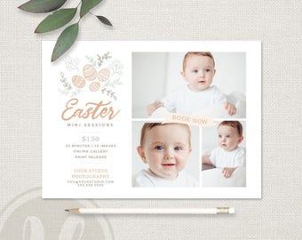 Easter Mini Session Template - Easter Marketing Board, Easter Minis, Easter Mini Sessions, INSTANT DOWNLOAD, Photographer Marketing