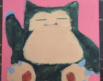 Snorlax painting