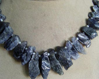1. Strand  Iolite  Rough  beads  45, grams 10X18 12X31, MM