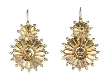 A Pair of Victorian Gold Earring