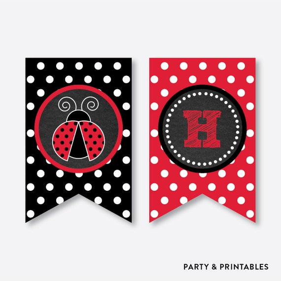 instant download ladybug party banner ladybug happy birthday