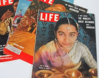 Life Magazine / 4 Different Religions of the World / Perfect for Research / Published in 1955