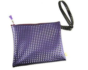 Purple 3D faux evening bag