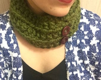 Crochet cowl collar (cilantro)