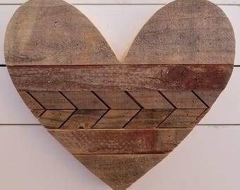 13 inch reclaimed heart