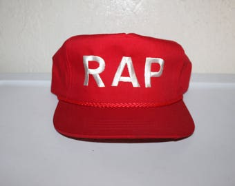 Vintage 90's RAP Hip Hop Snapback by Yupoong