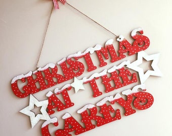 Christmas at the.. Hanging Sign