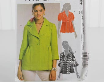 Misses Lined Jackets Pattern, Uncut Sewing Pattern, McCalls 5594, Size 16-22