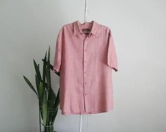 Vintage XL linen shirt