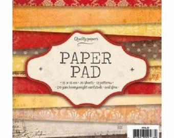 "Paper / pad ""Orange"" Choco""scrapbooking Paper"