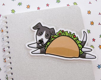 Taco Dog Bookmarker, Bookish Puppy, Book Lovers Gift, Funny Dog, Valentine's Gift, Reader Gift, Gift for Her, Doggo Lover
