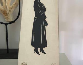 FREE SHIPPING - Full Figure Female Silhouette, Souvenir from Atlantic City Boardwalk