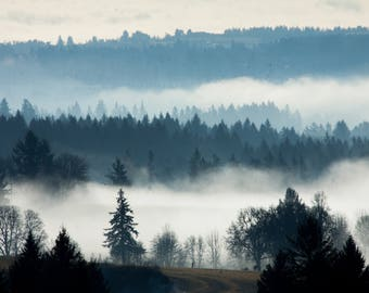 Tualatin Valley Fog-- Canvas Print