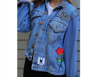 custom jean jackets with patches