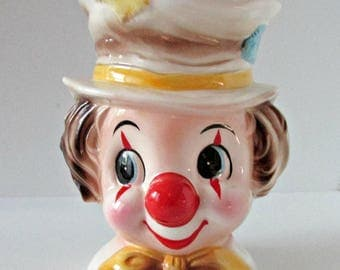 Vintage Clown Planter Relpo