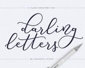 Script Font - Darling Letters - Modern calligraphy font - Digital font - Bouncy font
