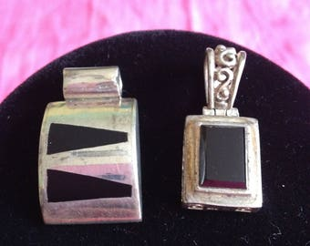 Two Pendants, Leaf Barrette, And Donkey Brooch