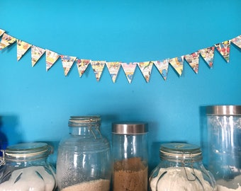 Recycled Archie Comic Decorative Garland, reclaimed comic decor