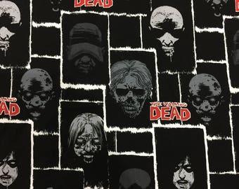 "90x110cm/35""x43"" The Walking Dead Cotton Fabric"