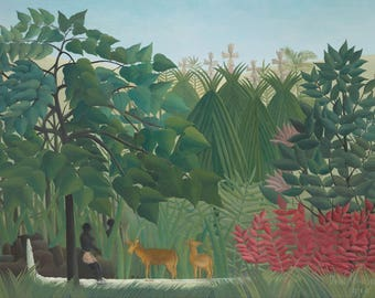 Henri Rousseau: The Waterfall. Fine Art Print/Poster (004536)