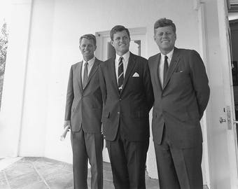 John F. Kennedy, Robert Kennedy, And Edward Ted Kennedy. Print/Poster (4904)