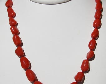 Red coral necklace from Corsica 1st choice (cc120)