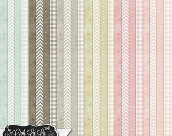 On Sale 50% Off Shabby Chic,Patterned 12x12 Papers,Backgrounds,Digital Scrapbook Kit, Scrapbooking