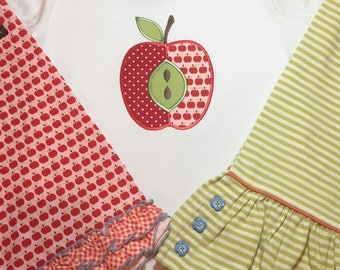 Apple Applique M2M Matilda Jane Pep Squad Shorties