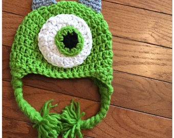 One Eyed Monster Crochet Beanie-FREE SHIPPING