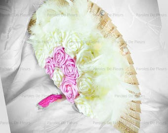 Bridal bouquet range, roses, feathers and diamonds to be personalized