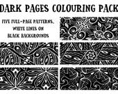 Dark Pages Colouring Pack...