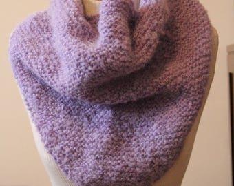 Fuzzy Purple Knit Wrap
