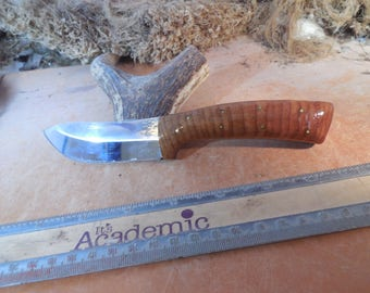 Eric's Oregon Elk Skinning Knife Pin Oak wood Handles