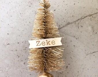Miniature Christmas Trees - Personalised Christmas Banner Mini Trees
