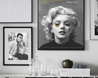 Marilyn Monroe Poster Art Print- Framed