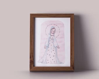 Virgin Mary - print