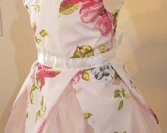 One of a kind fairy dress, fearie ,fantasy, costume,fairy princess size 3 white and pink floral