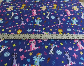 My Little Pony, Ponies and Names cotton fabric - Hasbro - Springs Creative - sold by the yard