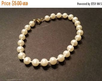 SALE Pearl Bracelet Costume Jewerly