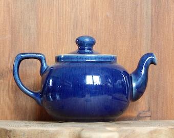 Vintage Denby deep Blue Teapot Stoneware