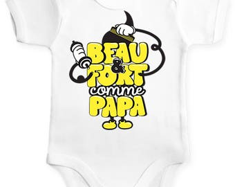 Original and funny boy onesie handsome and strong like Daddy