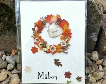 Pagan greetings card, Mabon card, Autumn Equinox sabbat cards, seasonal celebration cards, witches birthday card, pagan birthday cards