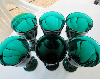 Set of 6 Fostoria Large Heavy Wine Goblets