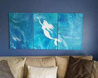 The Little Mermaid Abstract Painting