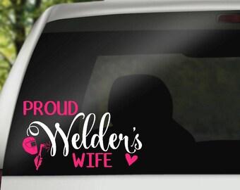 Proud Welder's Wife Decal