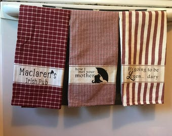 How I Met Your Mother Decorative Kitchen Towels