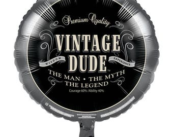 Vintage Dude Party balloons  / adult party / Men party / dude party / over the hill